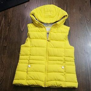 Zara Girls Outerwear Collection Bright Yellow Vest